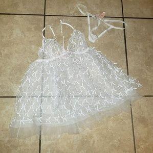 Brand new!! Victoria Secret white two piece!